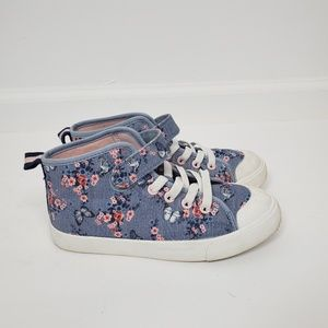 Girls Tennis shoes size 1 Blue floral print by H&M